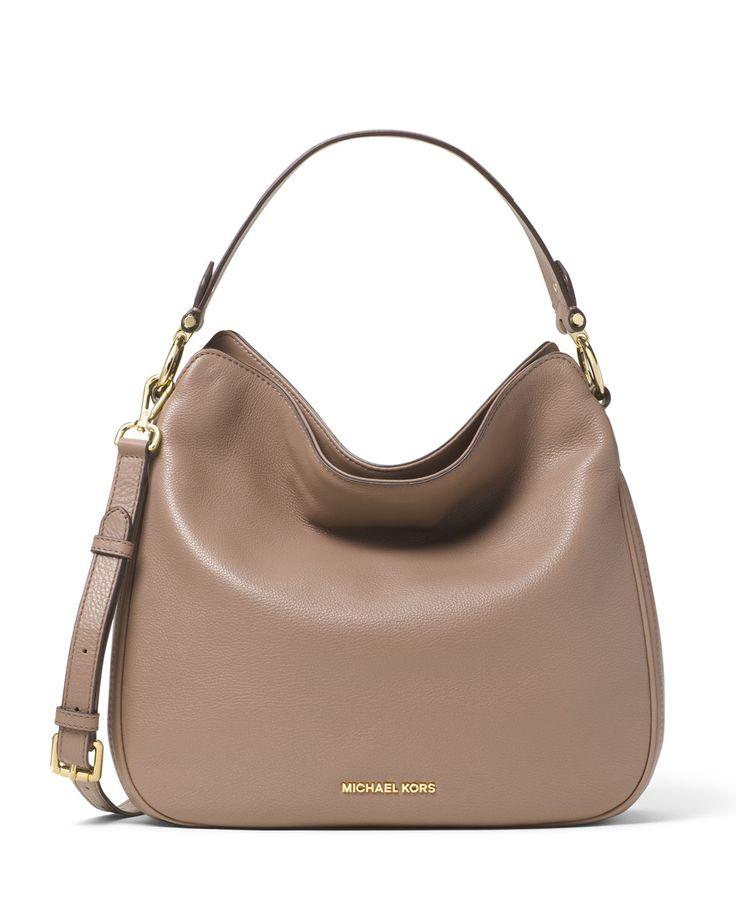 MICHAEL Michael Kors Heidi Medium Convertible Shoulder Bag, Dark Dune, Size: M