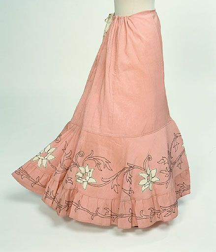Can you believe this was meant to be worn UNDER something else and not seen??? Petticoat  1890s  Manchester City Galleries