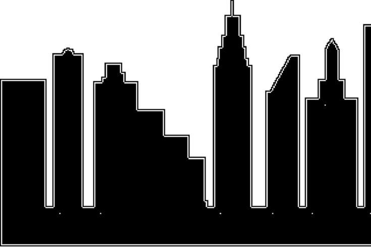 city skyline outline simple - photo #26