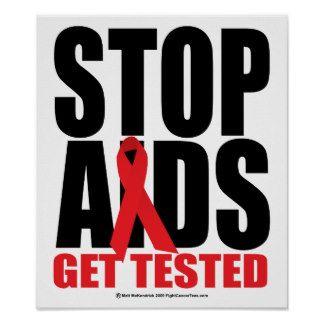 Znalezione obrazy dla zapytania posters about AIDS