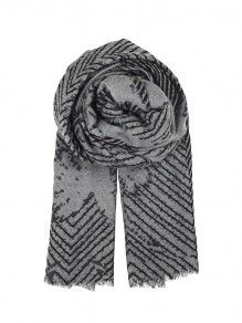 #BeckSondergaard Broken triangles scarf black