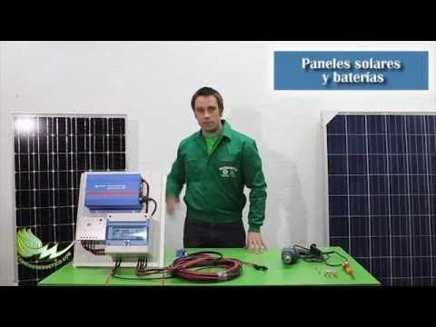 Kit solar autoinstalable para casa de campo - Tutorial de montaje en 5 sencillos pasos - YouTube