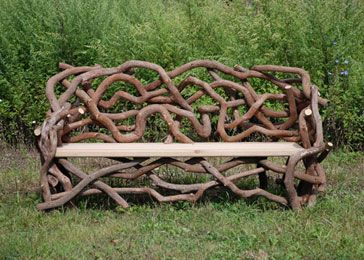... Mountain Laurel With A Locust Seat This Bench Was Inspired By Frederick  Church. Romancing The Woods Has Been Re Creating His Benches At Olana In  Hudson, ...