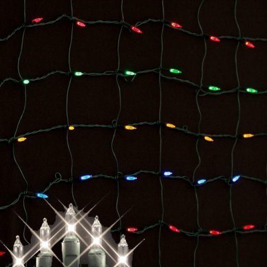 Incandescent Clear Net Lights - 2 Units