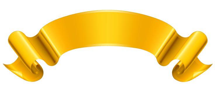 La bandera del oro PNG imagen prediseñada