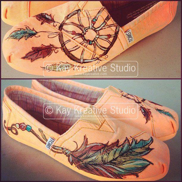 Sweet Dreams' Dreamcatcher Toms Shoe by KayKreativeStudio on  etsy... I'm in love