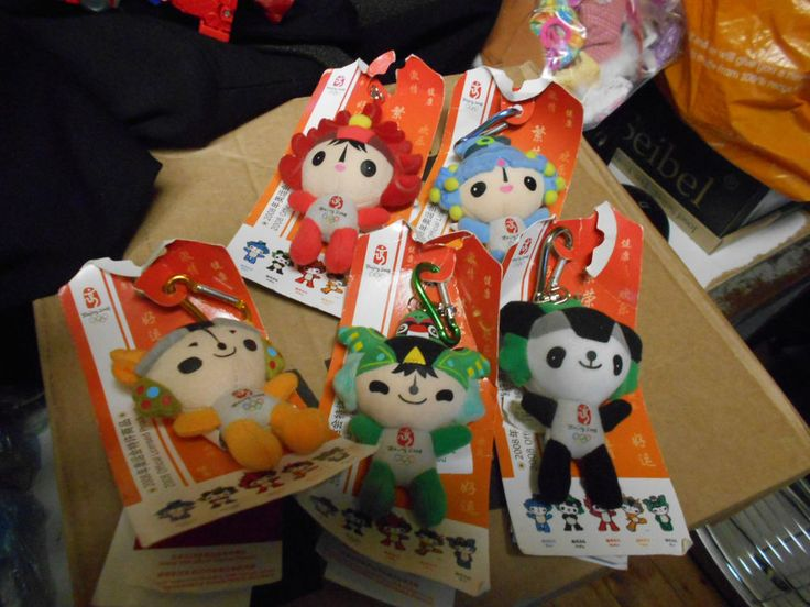 Beijing 2008 Summer Olympics Fuwa Good Luck Dolls 5 X Mascots  | eBay