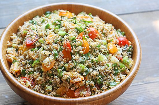 Tabbouleh (Arabic: تبولة tabūlah; also tabouleh or tab(b)ouli) is a Levantine Arab salad traditionally made of bulgur, tomatoes, finely chopped parsley, mint, onion and garlic, and seasoned with olive oil, lemon juice and salt. - i personally love this arabic food~!! <3