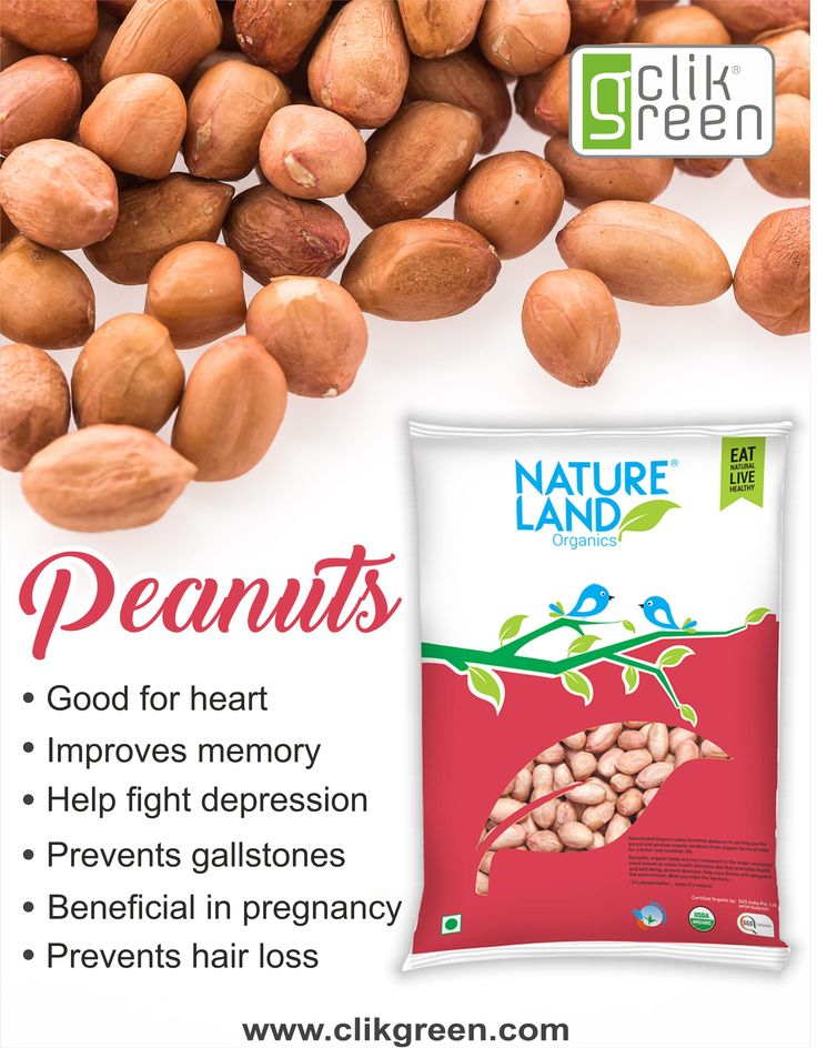 Benefits of Peanuts: 1. Good for heart. 2. Improves memory. 3. Help fight depression. 4. Prevents gallstones. 5. Beneficial in Pregnancy. 6. Prevents hair loss. #clikgreen #organicfood #healthyhabit #Peanuts #depression #pregnancy #hair_loss