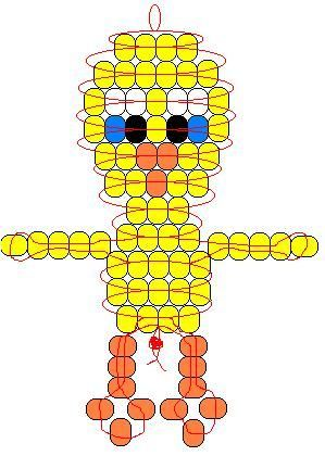 Tweety Bird pony bead pattern: