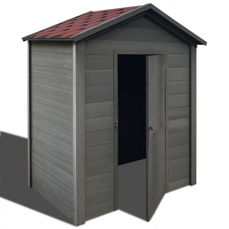 Garden House Shed Storage Outdoor Patio Weather Resistant Modern Home Grey Cabin #GardenHouseShed