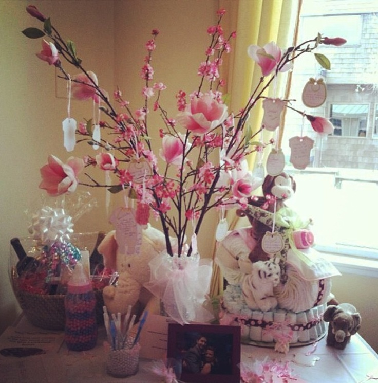 Branch Centerpieces For Baby Shower : Baby shower wishing tree ideas pinterest