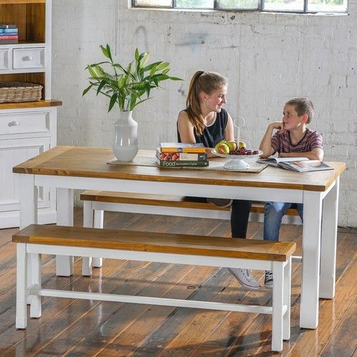 Tuscan 1800 Bar Table Package with Benches (Bench:  1530W x 350D x 520H mm;  Table:  1800W x 900D x 810H mm) RRP $798
