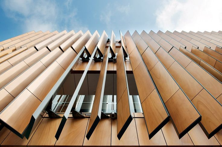 Vertical Timber Louvres, Surrey Library
