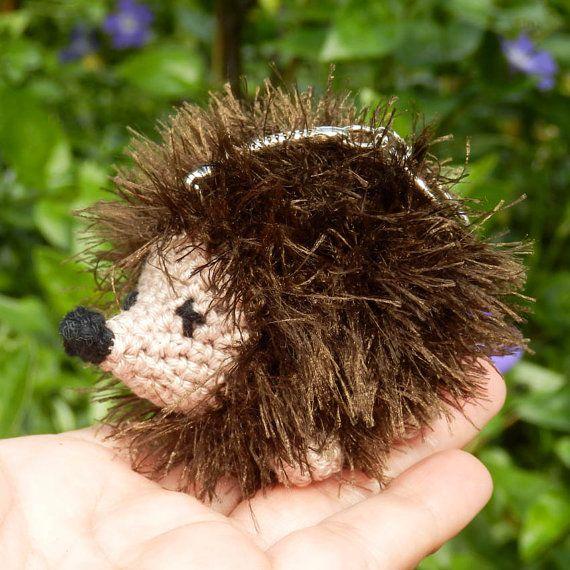 Small Crocheted Hedgehog Keyring/Bag Charm by LottasArk on Etsy, £10.00