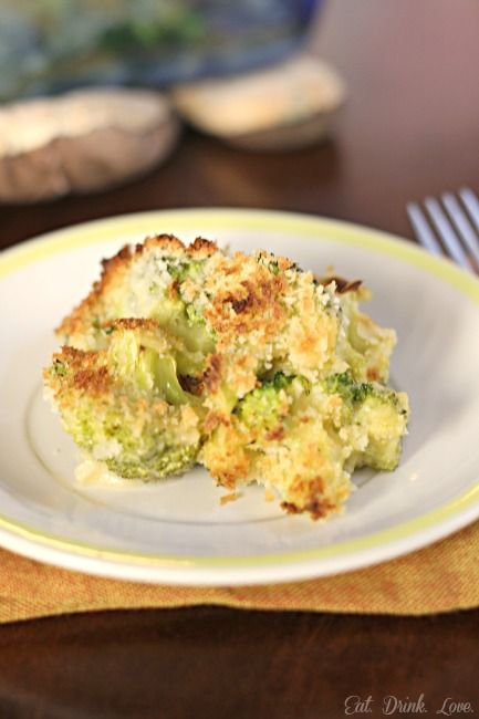 Low Fat Broccoli Gratin - a lower fat alternative for Thanksgiving!