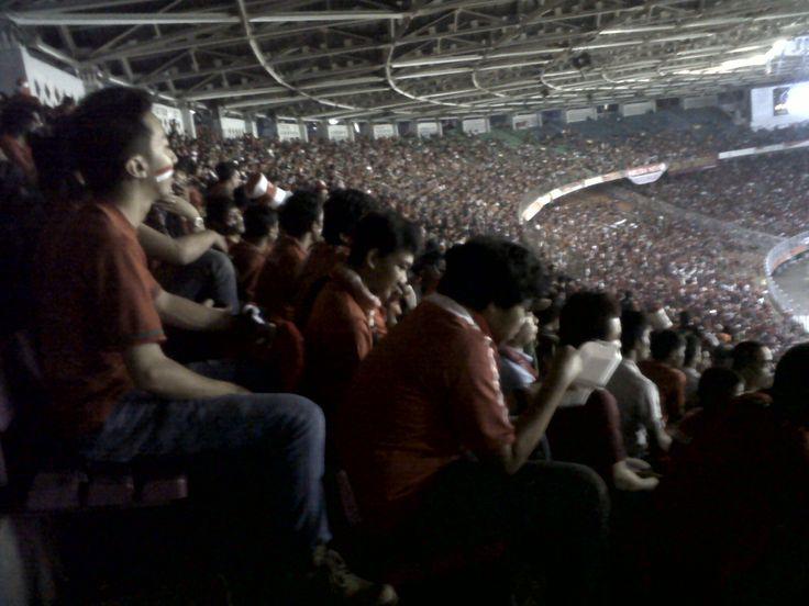 fanatical supporters Indonesian football team, @Gelora Bung Karno Stadium. #savefootballteam #garudaindonesia #stadium #indonesia