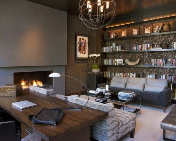 man cave home office. a man cave and home office can be in the same room but still separate
