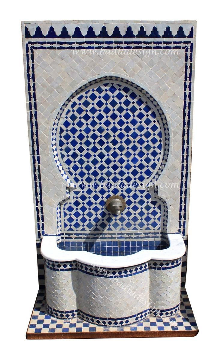 Outdoor wall decor sussex wall fountain - Moroccan Mosaic Tile Wall Fountain From Badia Design Inc