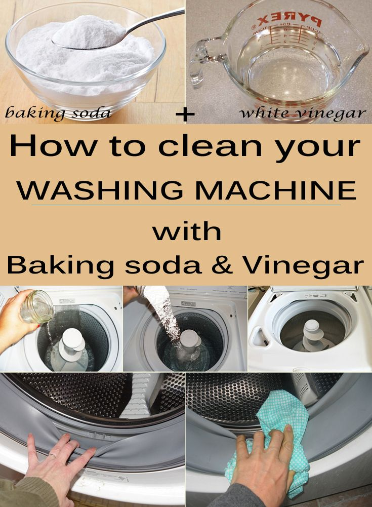 How to clean your washing machine with baking soda and vinegar - CleaningTutorials.net - Your Cleaning Solutions