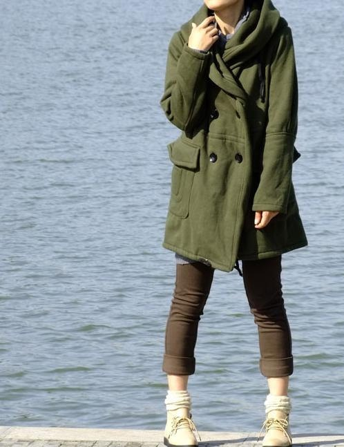 Journey --- hoodie thick Long coat