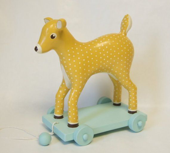 If I had a child, he or she would only have nice toys like this cute pull toy!