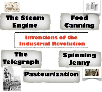 Inventions of the Industrial Revolution - Students analyze and rank the top 5!   Check out this fun and simple way to teach the major inventions of the Industrial Revolution!