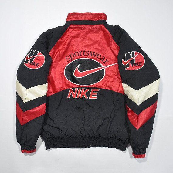 Rare Vintage 80s 90s Nike Bomber Windbreaker Puffy Puffer Jacket Retro Swoosh Big Logo Nike Wint Vintage Nike Windbreaker Hoodies Men Pullover Vintage Jacket