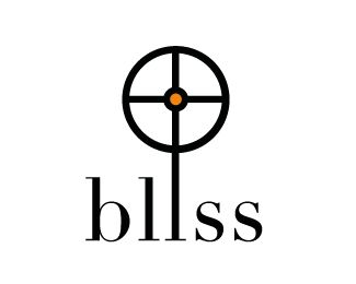 bliss design's new logo showing the former logo as a creation center in the middle, the bull's eye, where everything emanates from. Symbolising the company's four services and the four surrounding elements in complete balance, targeting perfect solutions. The sun and earth combined in total bliss.