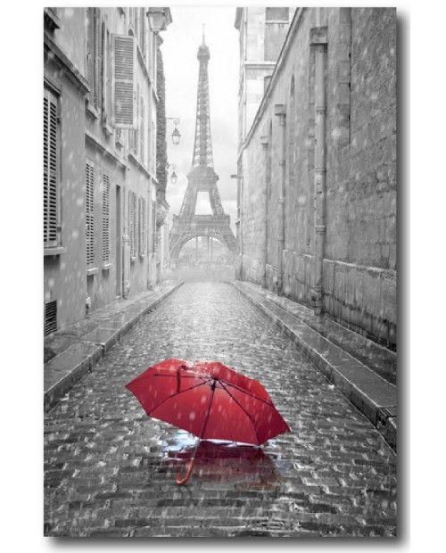 Noir blanc rouge tour eiffel recherche google peinture pinterest recherche rouge et - Tableau noir et blanc avec touche de couleur ...