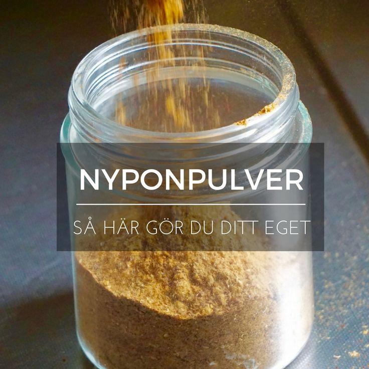 Nypon – gör eget nyttigt nyponpulver