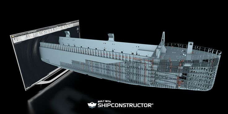 Out of screen Autodesk Navisworks 3D engineering model rendering of ship #shipbuilding