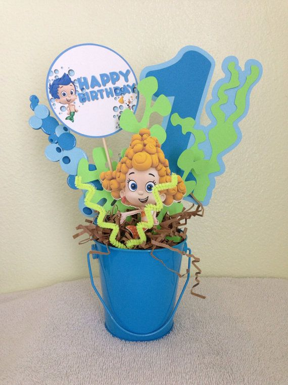 Bubble guppies centerpiece by euphoriceffect on etsy diy pinterest bubble guppies - Bubble guppies center pieces ...