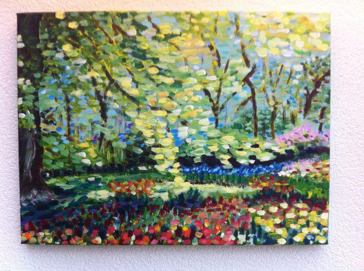 Workshop à la van Gogh , Keukenhof ,erg leerzaam geweest!
