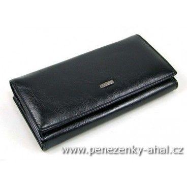 Velká dámská peněženka černá kožená - praktický doplněk pro každou příležitost.