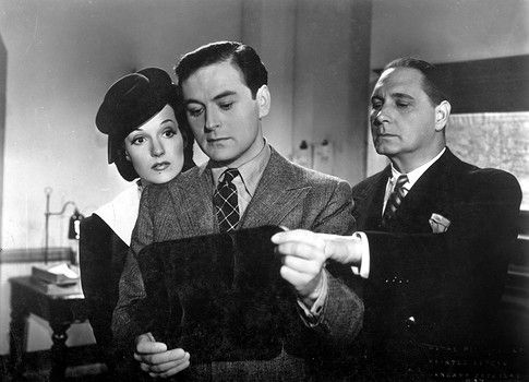 Judy Campbell, Sebastian Shaw and Henry Edwards in East of Piccadilly (1941) Directed by Harold Huth