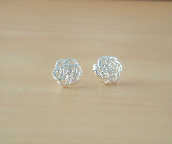 925 Celtic Knot Earrings/Sterling Silver by joannasjewellerycouk