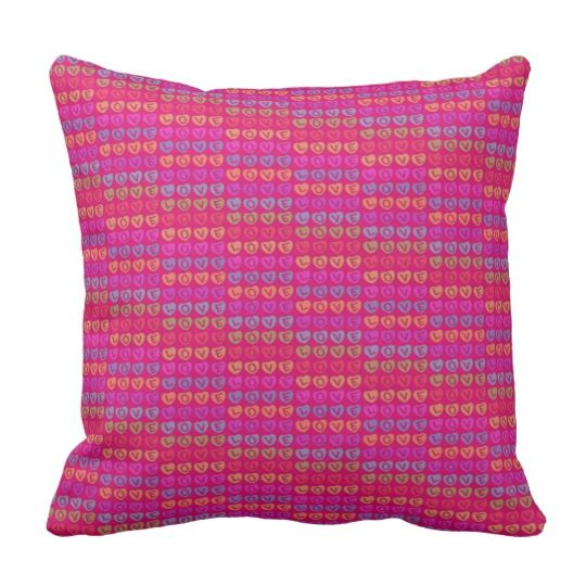 LOVE Throw Pillow by www.zazzle.com/htgraphicdesigner* #zazzle #gift #giftidea #throw #pillow #cushion #love #pink #homedecor