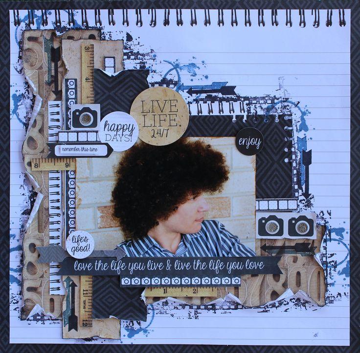 Live Life 24/7 - Kaisercraft Hello Today - Scrapbook.com