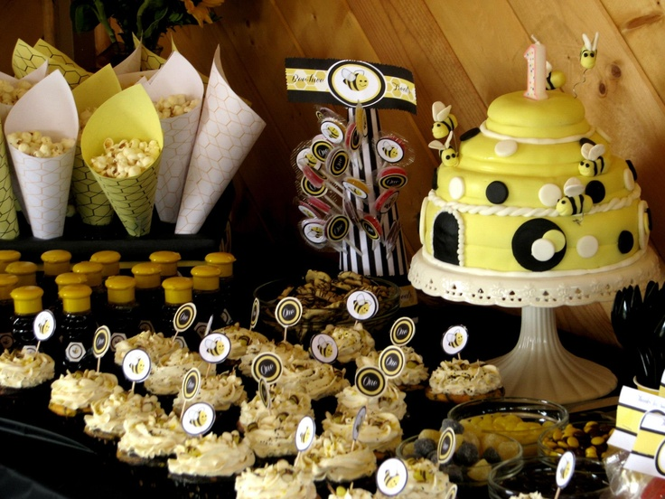 Bumble Bee Theme Party For My Daughters 1st Birthday