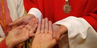 Symbol: Laying of the Hands is a practice preformed by the priest in the sacrament of Anointing of the Sick
