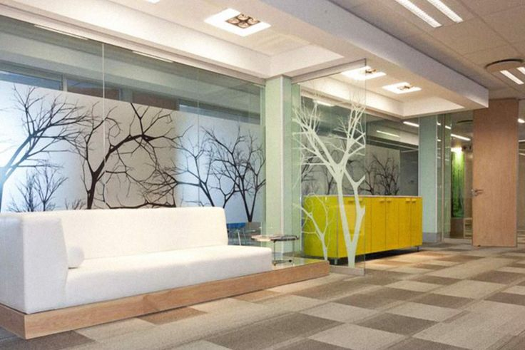 Adesivo Jateado com Árvores Impresso