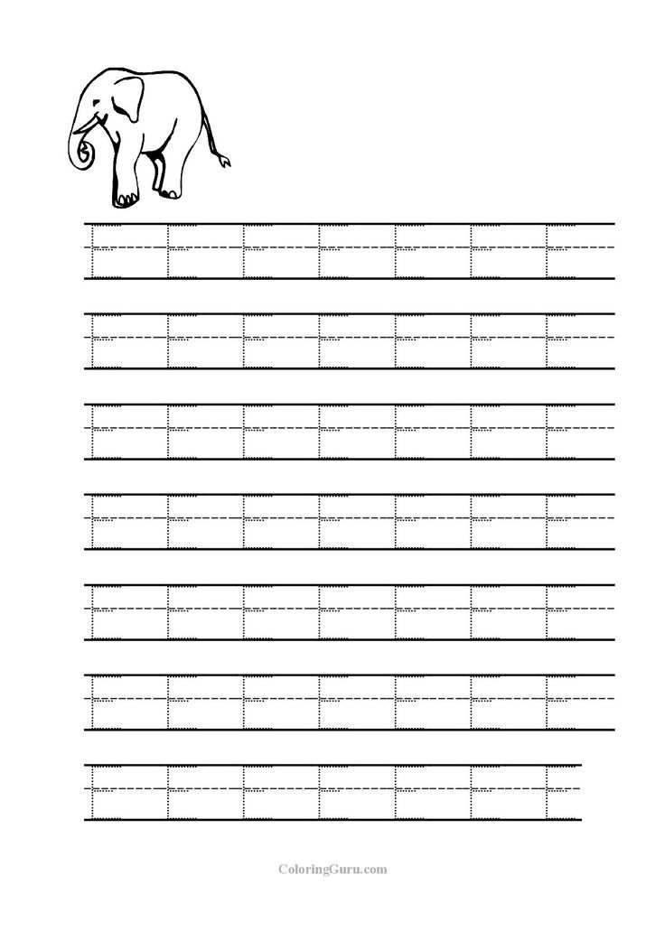 Tracing Letter D Worksheets For Preschool Coloring Pages