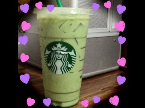 Starbucks green tea frappe... Closest to real recipe, no icecream. Just milk, sugar matcha, vanilla syrup!