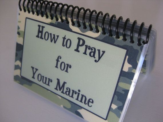 How to Pray for Your Marine SpiralBound Laminated by ThroneOfGrace, $18.00