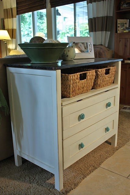 Dresser To Sofa Table Great Idea For Decorating And Having Storage In  Foyer. Love The Baskets