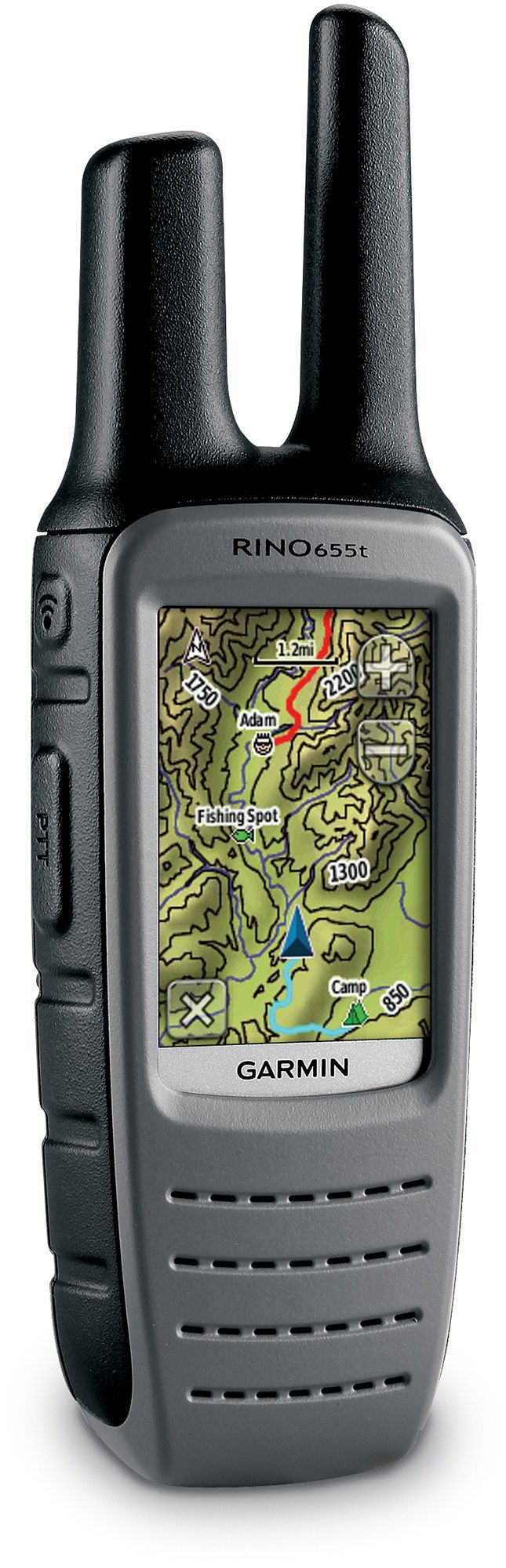 The Garmin Rino 655t GPS/2-way radio is a GPS with TOPO maps, FRS/GMRS radio, altimeter, compass, weather radio and digital camera. #REIGifts
