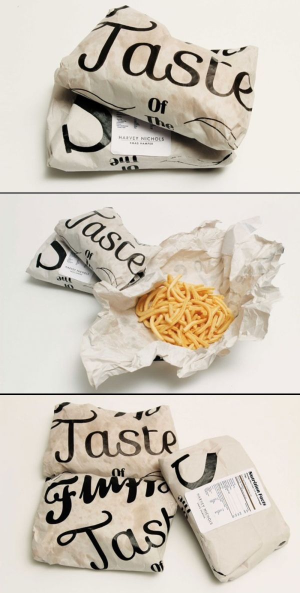 food packaging, design, typography
