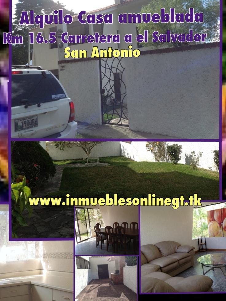 Alquilo casa Km 16.5 Carretera a El Salvador San Antonio