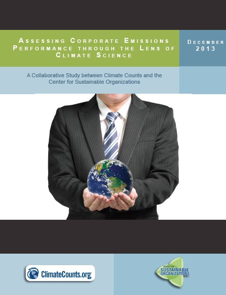 "As climate modeling has provided a ""best guess"" as to what it will take to reverse climate change and stabilize greenhouse gas emissions to safe levels, the 'Climate Counts 2013 Carbon Study' assesses how well companies are performing in the context of environmental thresholds."